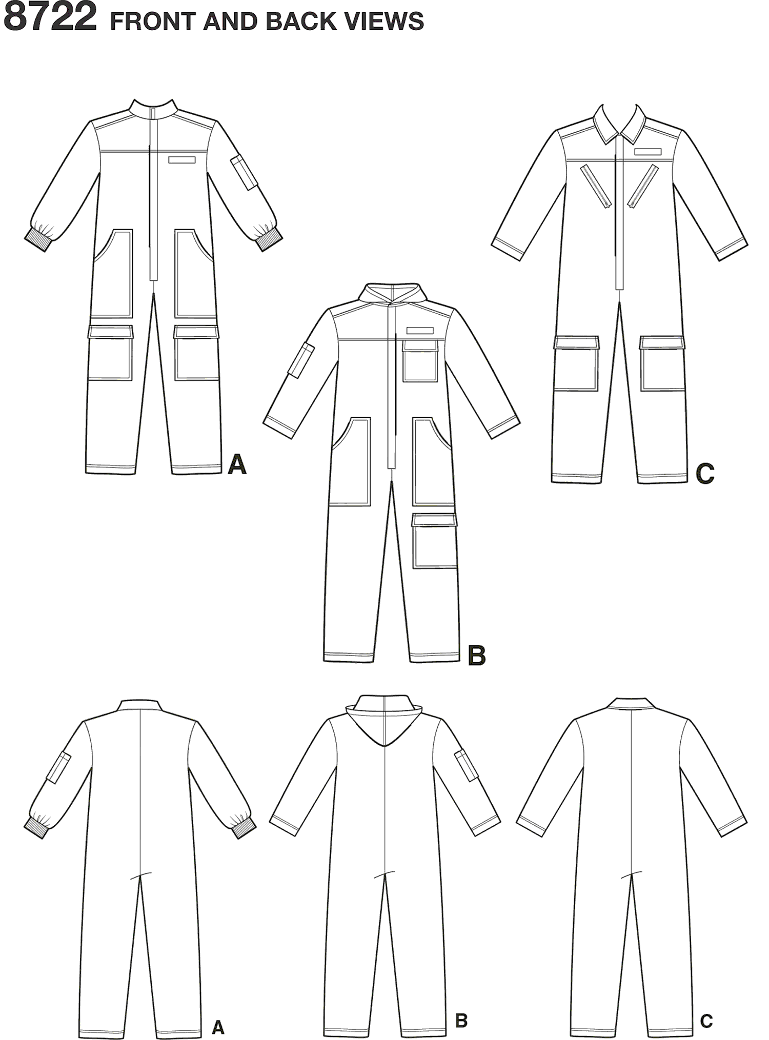 Simplicity Pattern 8722 Womens Mens and Teens Costume Line Art From Patternsandplains.com