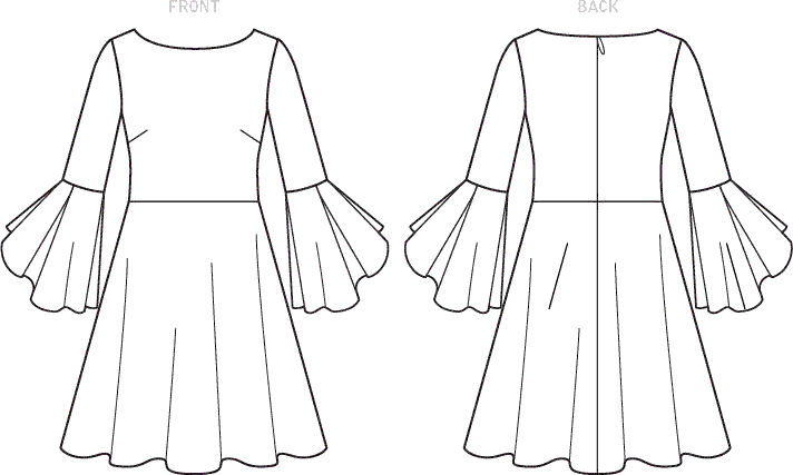 Vogue Pattern V1594 Misses Dress 1594 Line Art From Patternsandplains.com