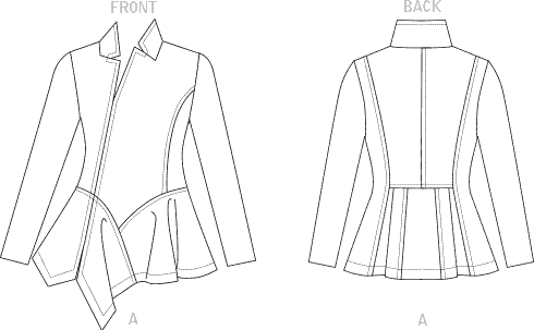 Vogue Pattern V1768 Misses Top 1768 Line Art From Patternsandplains.com