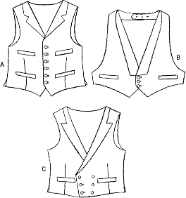 Vogue Pattern V7488 Mens Vests 7488 Line Art From Patternsandplains.com