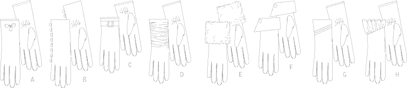 Vogue Pattern V8311 Gloves 8311 Line Art From Patternsandplains.com