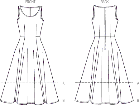 Vogue Pattern V8996 Misses Dress 8996 Line Art From Patternsandplains.com