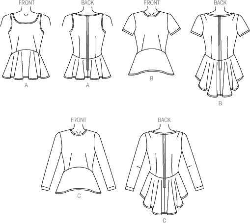 Vogue Pattern V9084 Misses Top 9084 Line Art From Patternsandplains.com