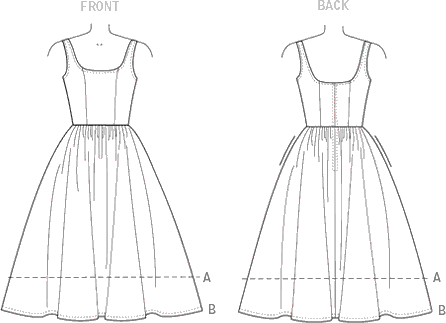 Vogue Pattern V9100 Misses Dress 9100 Line Art From Patternsandplains.com