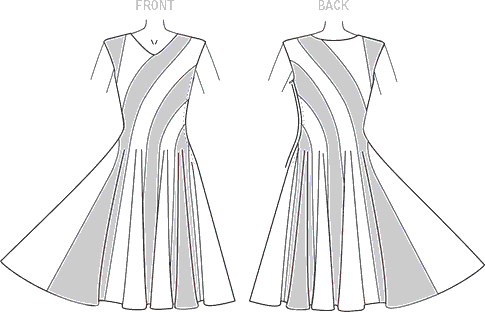 Vogue Pattern V9145 Misses Dress 9145 Line Art From Patternsandplains.com