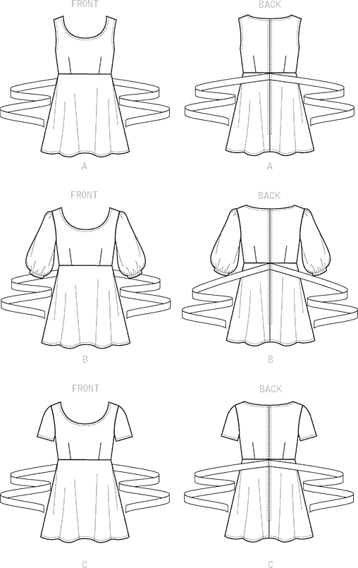 Vogue Pattern V9297 Misses Top 9297 Line Art From Patternsandplains.com