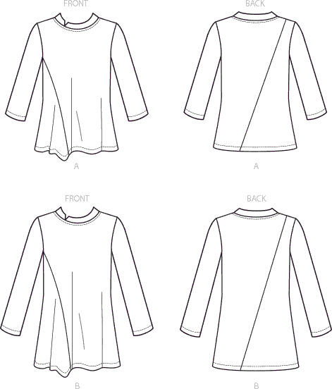 Vogue Pattern V9300 Misses Top 9300 Line Art From Patternsandplains.com