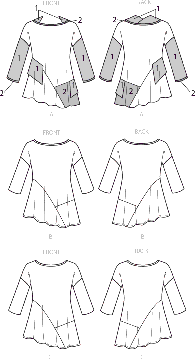 Vogue Pattern V9301 Misses Top 9301 Line Art From Patternsandplains.com
