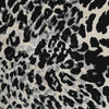 Alton Black and Grey Animal Print Scuba Crepe Fabric Main Image from Patternsandplains.com