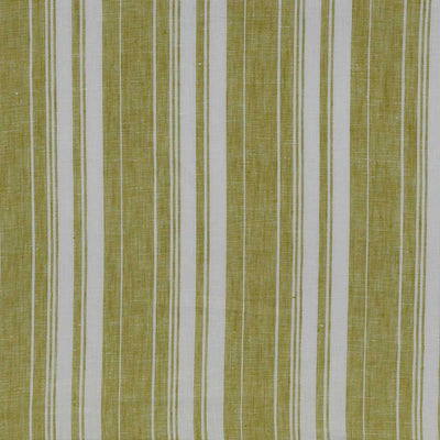 Antrim Vertical Stripe Fresh Kiwi Green White 100% Linen Woven Fabric Main Image from Patternsandplains.com
