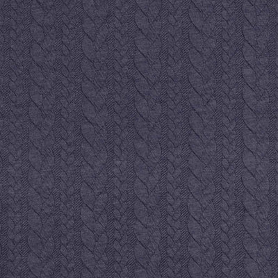 Bergen - Airforce Blue Aran Cables Double Jersey Blister Fabric Main Image from Patternsandplains.com