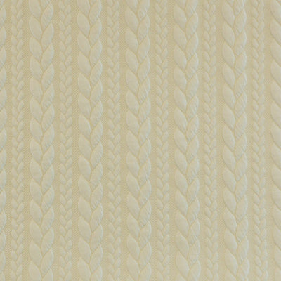 Bergen - Cream Aran Cables Double Jersey Blister Fabric Main Image from Patternsandplains.com