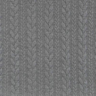 Bergen - Fossil Grey Aran Cables Double Jersey Blister Fabric Main Image from Patternsandplains.com