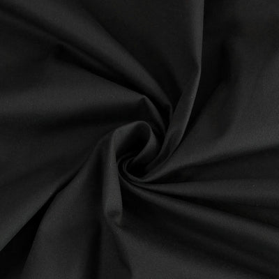 Bermuda - Black Stretch Cotton Woven Twill Fabric Detail Swirl Image from Patternsandplains.com