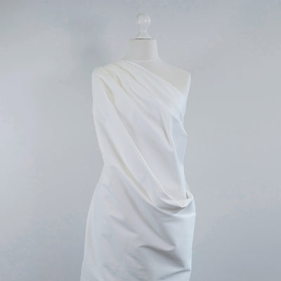 Patternsandplains.com-Bermuda-White-Stretch-Cotton-Woven-Twill-Fabric-Mannequin-Wide-Image