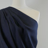 Clare Midnight Navy 100% Pure Linen Woven Fabric Mannequin Closeup Image from Patternsandplains.com