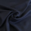 Clare Midnight Navy 100% Pure Linen Woven Fabric Detail Swirl Image from Patternsandplains.com