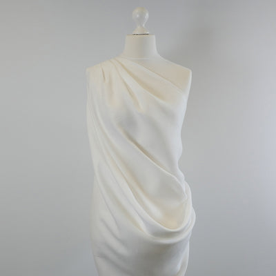 Clare White 100% Pure Linen Woven Fabric Mannequin Wide Image from Patternsandplains.com