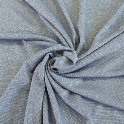 Fjord Silver Blue Viscose and Lurex Single Jersey Fabric Detail Swirl Image from Patternsandplains.com