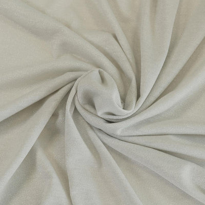 Fjord Silver Pearl Grey Viscose and Lurex Single Jersey Fabric Detail Swirl Image from Patternsandplains.com