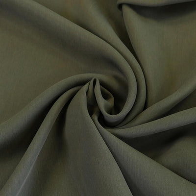 Helsinki - Sage Green Tencel Sandwashed Woven Twill Fabric Detail Swirl Image from Patternsandplains.com