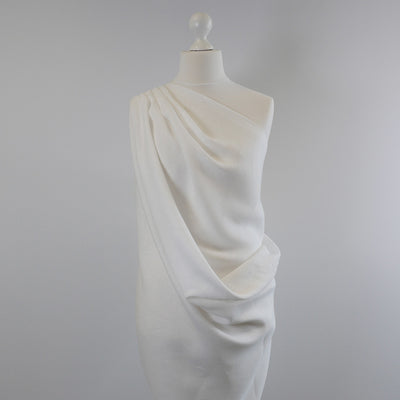 Kerry White 100% Linen Woven Fabric Mannequin Wide Image from Patternsandplains.com