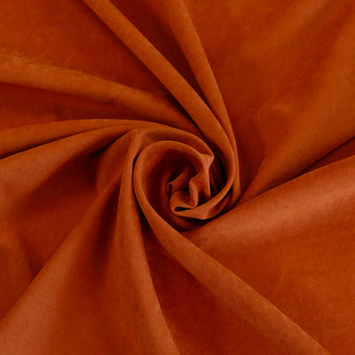 Lincoln Burnt Orange Light Sandwashed Woven Fabric Detail Swirl Image from Patternsandplains.com