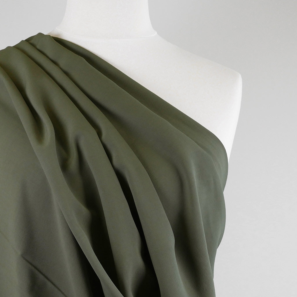Madison - Sage Green Viscose Crepe Woven Fabric