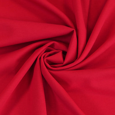 Milan - Bright Red Viscose Rich Ponte de Roma Fabric Detail Swirl Image from Patternsandplains.com