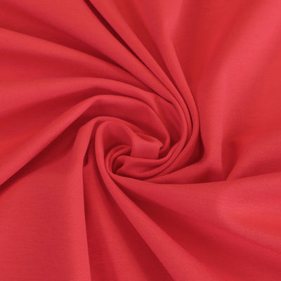 Milan - Coral Pink Viscose Rich Ponte de Roma Fabric Detail Swirl Image from Patternsandplains.com