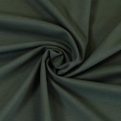 Milan - Slate Green Viscose Rich Ponte de Roma Fabric Detail Swirl Image from Patternsandplains.com