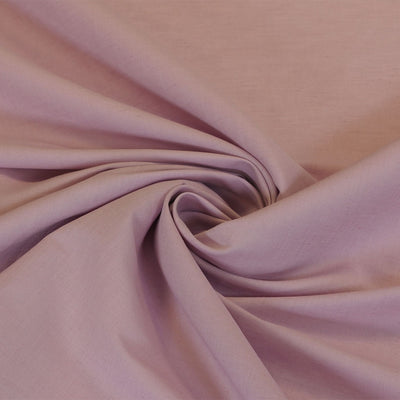 Moira Misty Rose Mauve Linen-Cotton Woven Fabric Detail Swirl Image from Patternsandplains.com