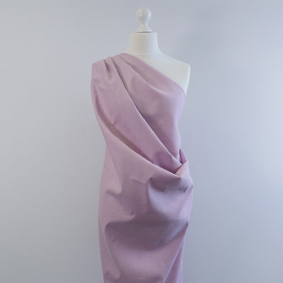 Moira Misty Rose Mauve Linen-Cotton Woven Fabric Mannequin Wide Image from Patternsandplains.com