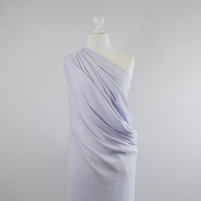Nice Pale Lilac, Stretch Viscose Lightweight Woven Fabric Mannequin Wide Image from Patternsandplains.com