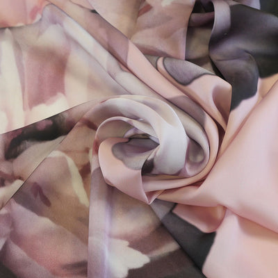 Paris 5188 Nude Pink Crepe de Chine Fabric from John Kaldor Detail Swirl Image from Patternsandplains.com