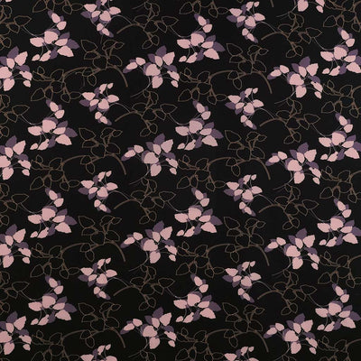 Peaseblossom 278810 Pink Black Dry Crepe Woven Fabric from John Kaldor Main Wide Image from Patternsandplains.com