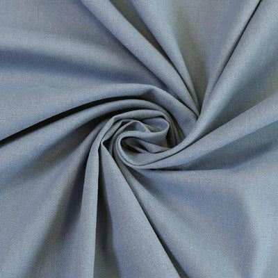 Phoenix - Washed Denim Blue Recycled Viscose and Linen Woven Fabric Detail Swirl Image from Patternsandplains.com