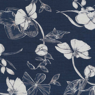 Provence Bright Navy, Lightweight Woven Print Fabric Main Image from Patternsandplains.com