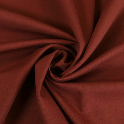 Rome - Pecan Brown, Viscose Rich Heavy Ponte de Roma Stretch Fabric Detail Swirl Image from Patternsandplains.com