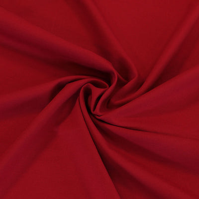 Rome Real Red, Viscose Rich Heavy Ponte de Roma Stretch Fabric Detail Swirl Image from Patternsandplains.com