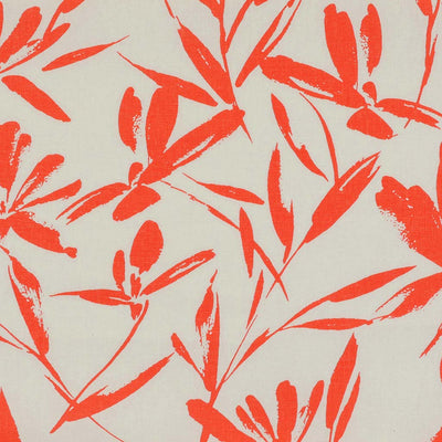 Salso 5385 Coral and Ivory Floral Linen/ Viscose Woven Fabric from John Kaldor Main Image Patternsandplains.com