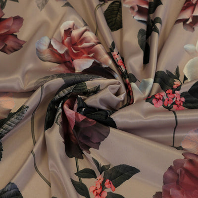 Santa Cruz 278792 Blush Pink Floral Woven Stretch Satin Fabric John Kaldor Detail Swirl Image from Patternsandplains.com
