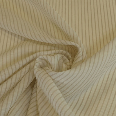 Shannon Stripe Cream and Natural 100% Linen Woven Fabric Fabric Swirl Image from Patternsandplains.com