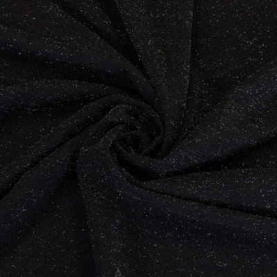 Sparks - Black Scuba Crepe Stretch Fabric Detail Swirl Image from Patternsandplains.com