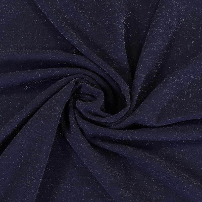 Sparks - Navy Scuba Crepe Stretch Fabric Detail Swirl Image from Patternsandplains.com