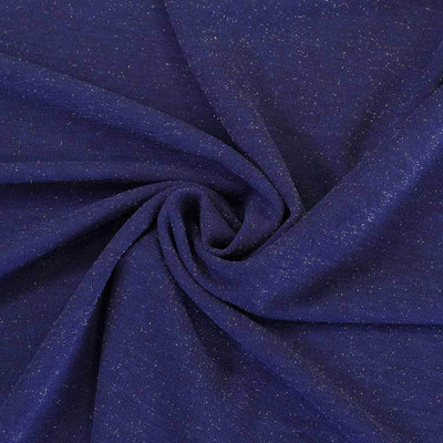 Sparks - Ultramarine Blue Scuba Crepe Stretch Fabric Detail Swirl Image from Patternsandplains.com