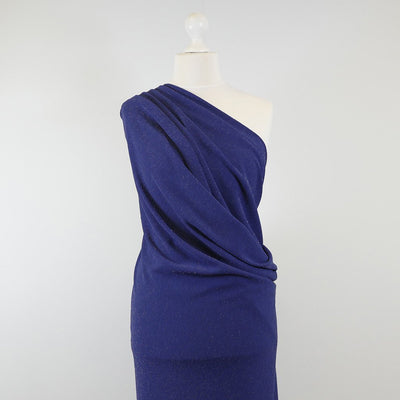 Sparks - Ultramarine Blue Scuba Crepe Stretch Fabric Mannequin Wide Image from Patternsandplains.com
