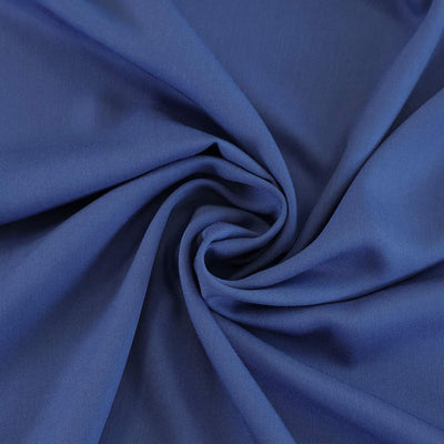 Trieste- Royal Blue Modal, Bamboo and Tencel Woven Fabric Detail Swirl Image from Patternandplains.com