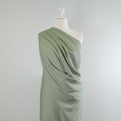 Trieste- Sage Green Modal, Bamboo and Tencel Woven Fabric Mannequin Wide Image from Patternsandplains.com