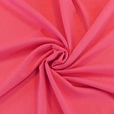 ed9877e410b Venice Coral Pink Ponte de Roma Stretch Fabric Detail Swirl Image from  Patternsandplains.com